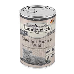 Landfleisch Cat Kitten Pastete Rind+Huhn+Wild   6X 400g Katzenfutter