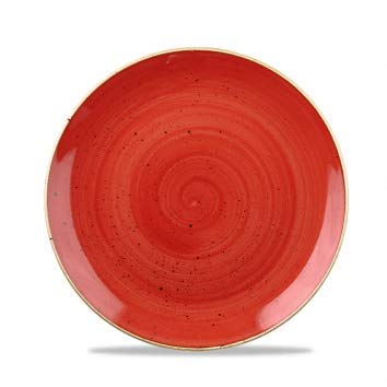 Churchill Stonecast -Coupe Bowl Schüssel- Durchmesser: Ø24,8cm, Farbe wählbar (Berry Red) Red Berry Bowl