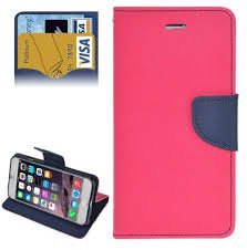 CEDO Luxury Mercury Diary Wallet Style Flip Cover Case for Samsung Galaxy J5-6 (New 2016) J510 - Pink