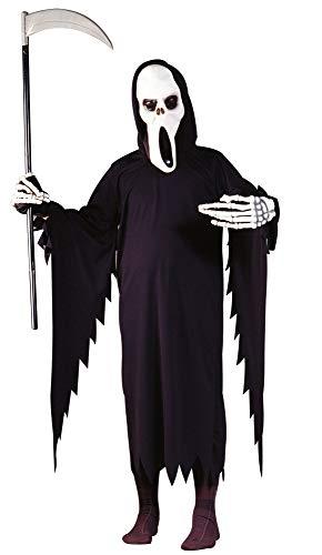 Geist Sensenmann Halloween Kostüm - Foxxeo Halloween Kostm fr Kinder Sensemann Gespenst Sensenmann fr Jungen Grße 116-122