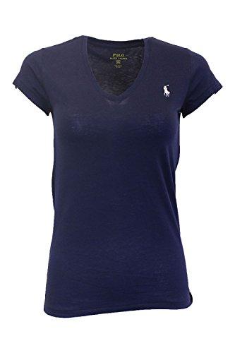 Polo Ralph Lauren Damen V Neck Shirt T-Shirt dunkelblau Größe M