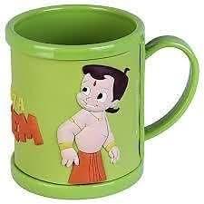 kidzone Chhota Bheem Cartoon Character 300 Ml Cup Mug For Kids