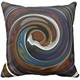 Brown Patchwork Swirl Throw Pillow case 1818