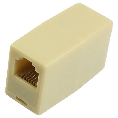 sourcingmap® RJ11 4 broches Double Prise Femelle Adaptateur Téléphonique Connecteur