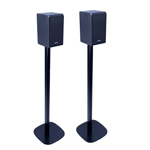 Vebos Bodenständer Samsung HW-Q90R schwarz Set - Optimales Erlebnis in jedem Raum - ermöglicht Ihnen Ihr Samsung HW-Q90R genau dort aufzustellen, wo Sie es wollen - kompatibel zu HW-Q90R