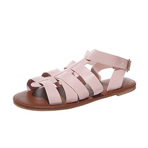 en Gladiator Kreuzgurt Wohnungen Schnalle Knöchelriemen Klassische Sommer Schuhe Aushöhlen Solide Peep Toe Sandalen ()