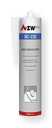 ZWpro BC-220 Dach-bausilikon | Farbe: transparent | Inhalt (ml): 310