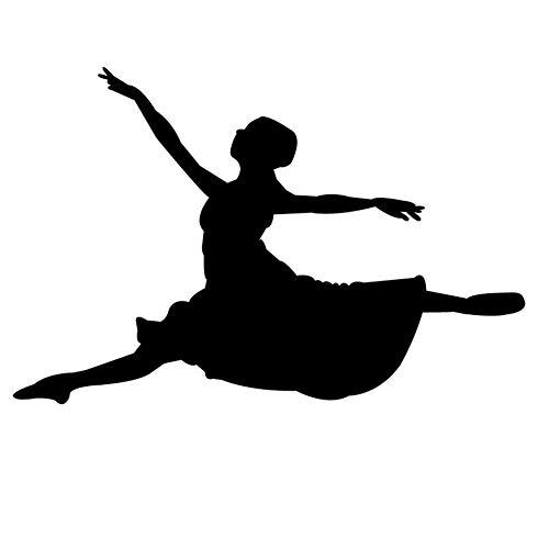 tttänzerin Silhouette Wandtattoos Tanzstudio Dekoration Gilrs Schlafzimmer Wandaufkleber Afhesive Art 66X44 Cm ()