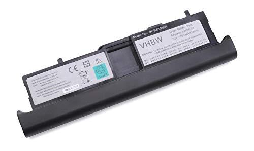 vhbw Batterie LI-ION 7800mAh 7.4V Noire pour IBM Lenovo ideapad S10-3t etc. remplace 57Y6450, 57Y6452, L09S8L09, L09M4T09, L09M8T09, L09S4T09