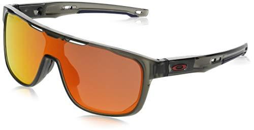 Oakley Herren Crossrange Shield 938704 Sonnenbrille, Grau (Gris), 1