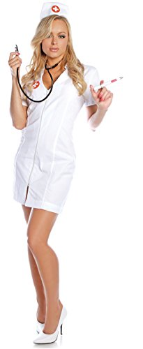 Hot Flash Adult Nurse Costume: (Hot Flash Kostüm)