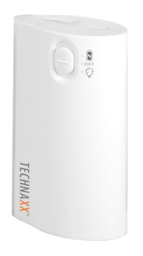 Preisvergleich Produktbild Technaxx TX-15 W TX-15 LED Power Bank Akku (4400mAh) mit Taschenlampe weiß