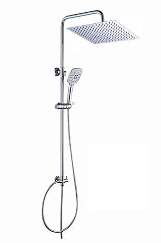 Duschset Duschstangeset Duschsäuleset Duschsystem Edelstahl 30x30cm -