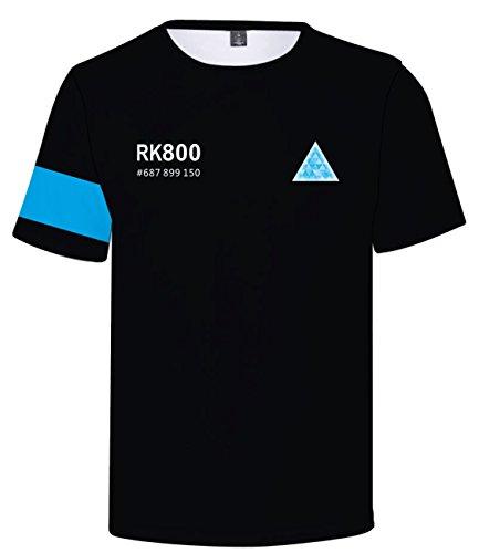 Seraphy unisex shirt detroit: become human t-shirt con 3d stampa per uomo/donna q90 xl