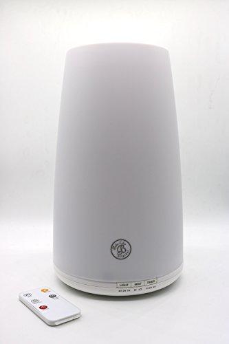 ICARUS Humidificador Ultrasónico con Lampara LED Difusor Aromaterapia y Fragancias. Incluye Control Remoto y Filtro Antibacteriano