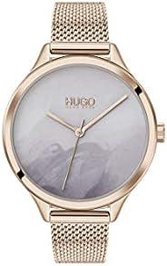 ساعة ستانلس ستيل بمينا ازرق للنساء من هوغو بوس - 1540061