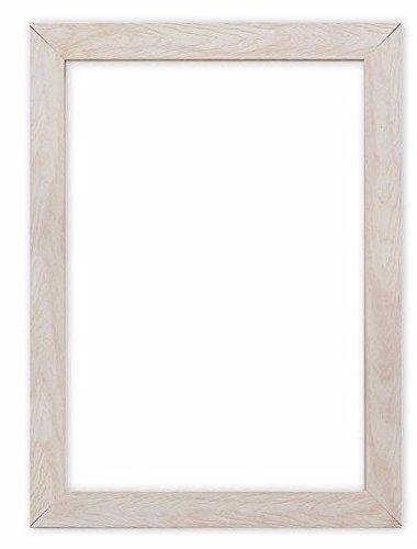 Breiter Rahmen für Konfetti-Holzrahmen mit Bild- / Foto- / Posterrahmen - mit hochreiner Styroporplatte aus bruchfestem Plexiglas - Weiß Rahmen - 14 x 11 zoll