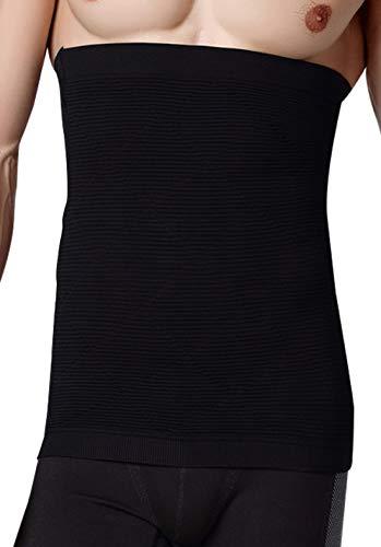 AIEOE - Faja Hombre Adelgazante Abdomen Cintura Moldeador Reductor Faja Elástico Moldeadora - Blanco - Talla ES M