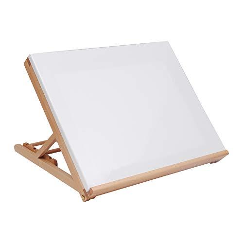et aus Holz jeweils - Tischoberfläche staffelei Zeichenbrett mit 5 verstellbaren Höhen - faltbar für einfache Lagerung - Malen, Wasserfarben & Acrylmalerei - Kunst Staffelei Set ()