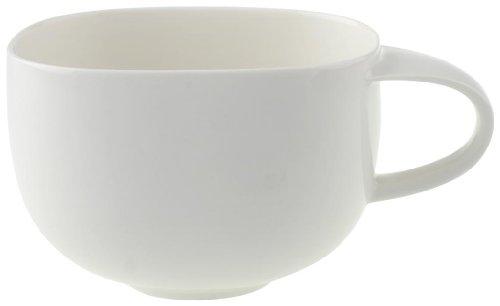 Villeroy & Boch Urban Nature Café au Lait-Tasse, 450 ml, Höhe: 7,8 cm, Premium Porzellan, Weiß -