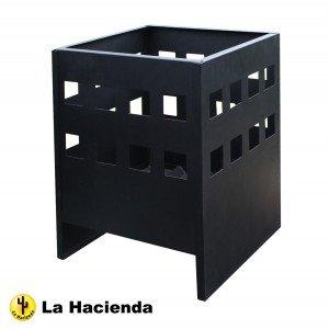 La Hacienda 56124 Novo Fire Pit Patio Heater - Black