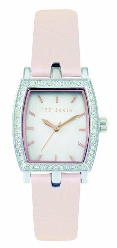 Ted Baker TE2010 - Reloj analógico de mujer de cuarzo con correa de piel rosa - sumergible a 30 metros