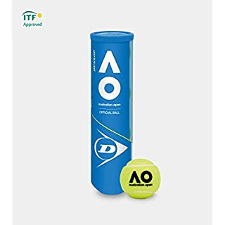 DUNLOP Alle Altersgruppen Australian Open Tennisbälle Gelb Einheitsgröße