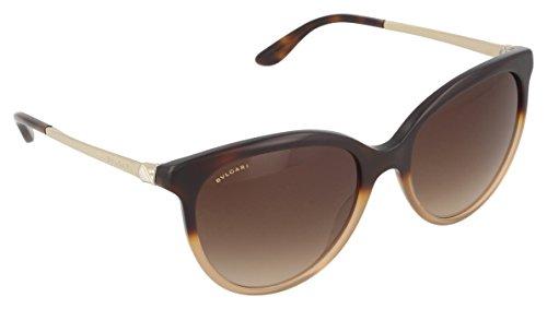 Bulgari Unisex-Erwachsene 8161 Sonnenbrille, Braun (Brown Havana Gradient), 56