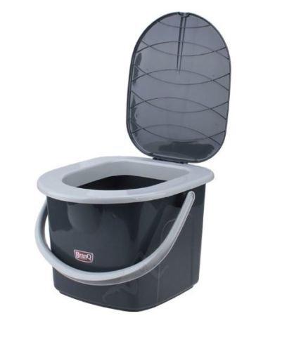 BranQ inodoro 15,5litros Camping inodoro cubo de WC exterior viaje, negro