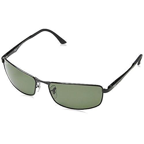Ray-Ban Unisex Sonnenbrille RB4179, Gr. X-Large (Herstellergröße: 62), Schwarz (Gestell: schwarz, Gläser: Polarized Silber Verspiegelt 601S82)