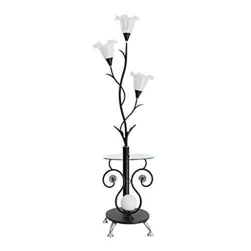 & Stehlampen Stehlampe Moderne Chinesische Couchtischlampe LED Vertikale Schmiedeeisen Wohnzimmer Schlafzimmer Piano Licht (Farbe : A-7 watts of white light) (Chinesische Stehlampe)