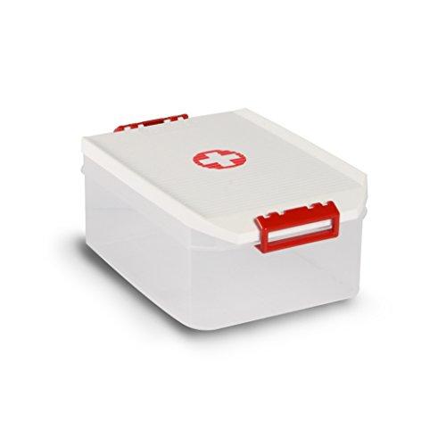 TATAY Caja de Almacenamiento Botiquín Cruz, 4,5 L de Capacidad, 19,2 x 29,7 x 12,4, Pp Libre de Bpa