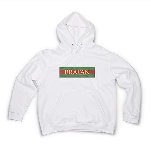 Herren Hoodie Bratan in Gold Bratan Bro Bruder Sis Gr. S Männer Pullover in  Weiß 9089111a9d