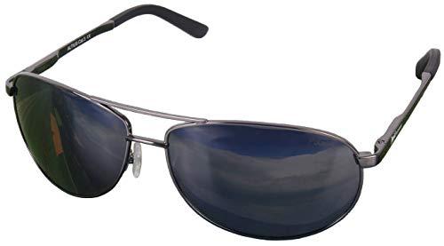 Rapid Eyewear Altius Polarisierte Aviator Brille mit Spiegelglas und MultiSchicht-Technologie. Grün Verspiegelte Linsen. Ideal zum Autofahren, Angeln & Golf usw.