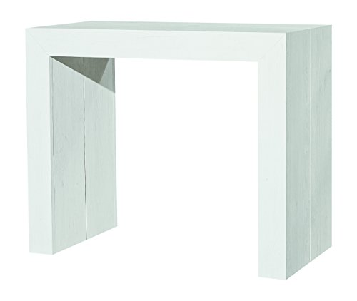 Fashion Commerce FC669, consolle allungabile in legno bianco