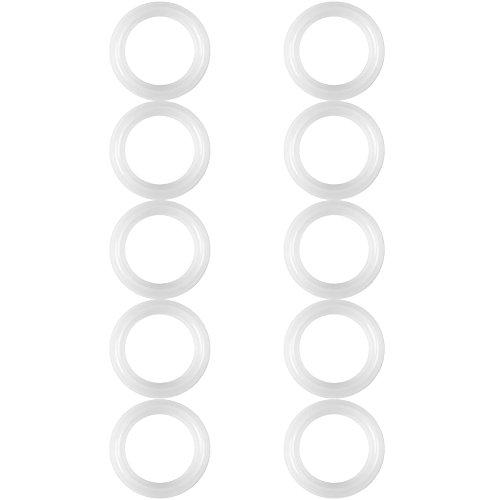 Silikon-Dichtungen, 10 Teile/satz 1,5 Zoll Ersatz Silikon Dichtungsring Ring Washer für Sanitär Clamp Ferrule -