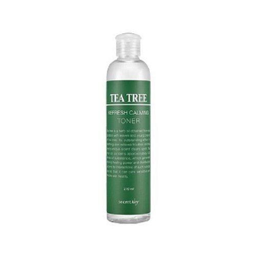 Secret Key - Tea Tree Refresh Toner - Gesichtswasser mit Teebaumöl gegen unreine Haut und Rötungen für Frauen und Männer - Gesichtsreinigung Unisex - Gesichtsreinigung und Peeling - Reinigungsmilch und Cremes für das Gesicht - Make-up Entferner - Gesichtspeelings