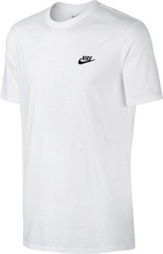 Nike Herren Club Futura T-Shirt, weiß (White/Black), S