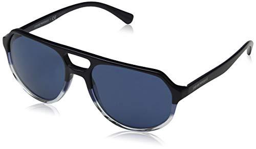 Emporio Armani Herren 0ea4111 562980 57 Sonnenbrille, Blau (Dark Blue Aqua)