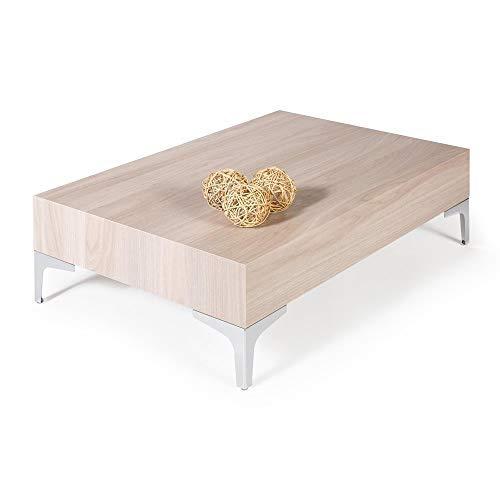 Mobili Fiver, Table Basse, Evolution 90 Chrome, Orme Perle, 90 x 60 x 28 cm, Mélaminé/Acier Chromé, Made in Italy