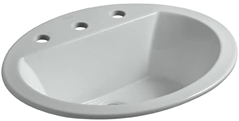 KOHLER K-2699-8-95 Bryant Oval Self-Rimming Bathroom Sink with 8