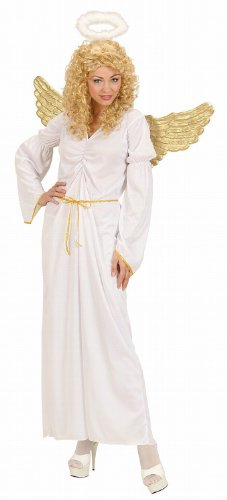 Widmann 02693 - Kostüm Engel, Kleid, Gürtel und Heiligenschein, Größe L
