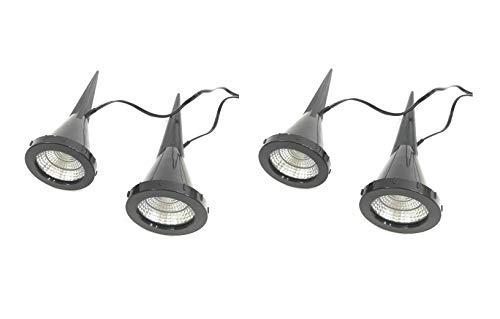 "2 x 2 LED-Pflanzen-Strahler""Jasmin"" Handschalter LED-Pflanzen-Strahler-Spot Blumen-Zimmerpflanzen-Blumenkübel-Blumentopf-Strahler-Spotlight Dekorations-Stimmungs-indirekter-Strahler-Spot"