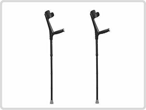 Unterarmgehstützen Gehhilfen Krücken faltbar 1 Paar (links und rechts) Leichtmetall Farbe: schwarz *Top-Qualität* - Faltbare Krücken