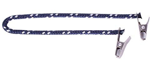 Cap Catch Clip Sicherung Hutband für Hut und Mütze (Marine / Silber)