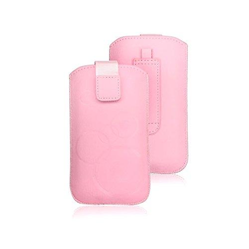 tag-24 Schutzhülle Slider Deko Etui Handytasche Cover passend für KAZAM LIFE C4 rosa