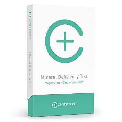 Mineralstoff-Test Kit von CERASCREEN - Mineralstoffe Zink, Selen & Magnesium schnell & einfach von Zuhause testen | Mineralstoff Analyse Test | Jetzt Mineralstoffe testen lassen