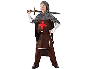 Atosa-61644 Atosa-61644-Disfraz Caballero Cruzadas-Infantil NIño, Color marrón, 10 a 12 años (61644