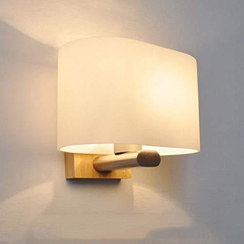 MDD Wandleuchte Led Glas Eiche Moderne Minimalistische Schlafzimmer Nachttischlampe Gang Veranda Innenglas Log Möbel Innen Wesentlich -