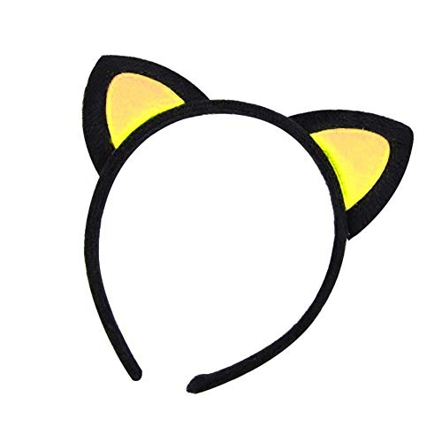 Kostüm Afro Asiatisches - Elegant Katze-Ohr-Haarband-Stirnband für Frauen-Mädchen-nette Geburtstags-Party-Versorgungsmaterialien und tägliche tragende Dekoration (Color : Black and Yellow)